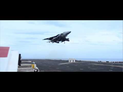Harrier Jet Lands After Landing Gear Malfunctions