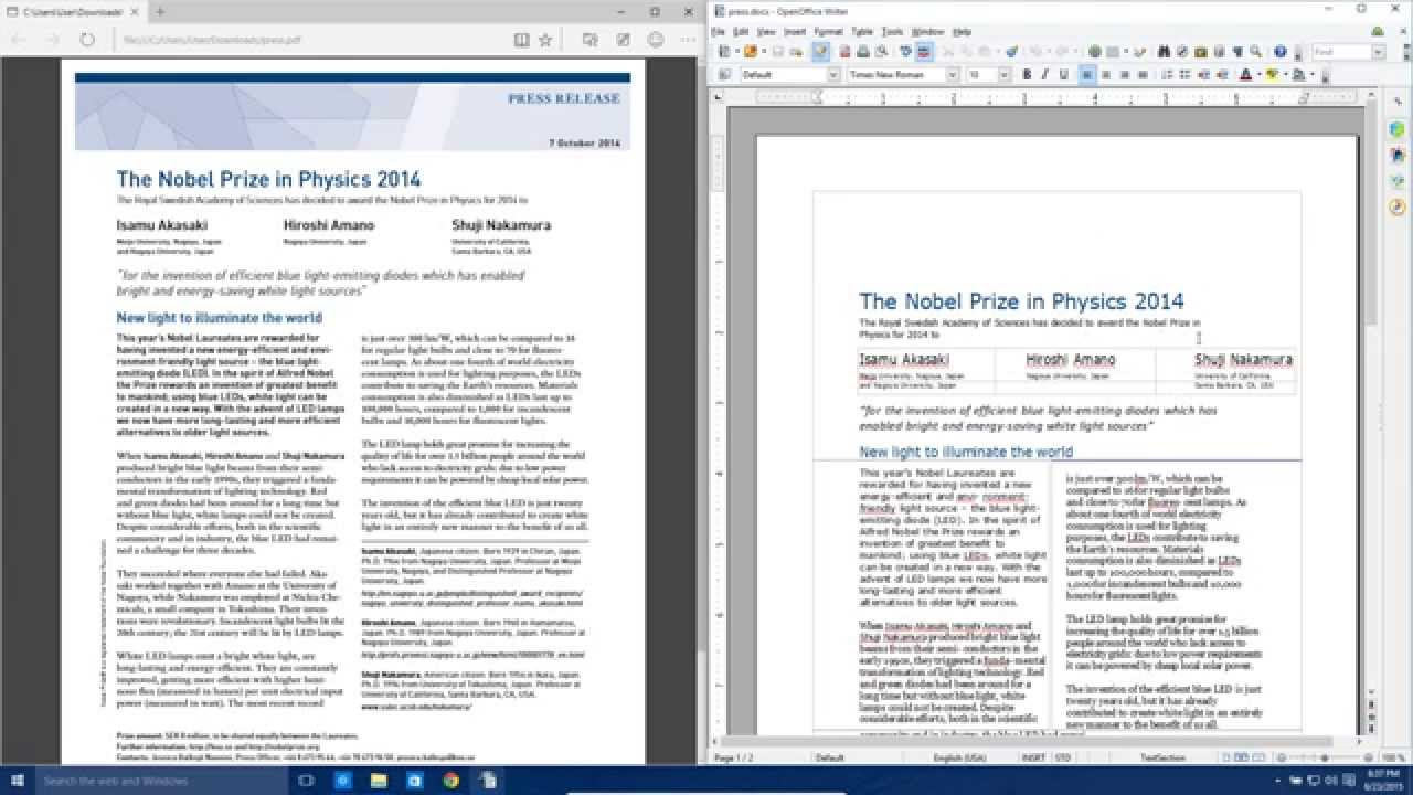 Convert PDF file to Microsoft Word Document Tutorial - YouTube