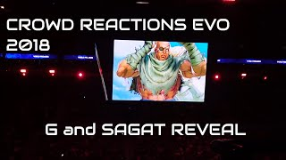 Crowd Reactions EVO 2018 Sagat and G Reveal Street Fighter V