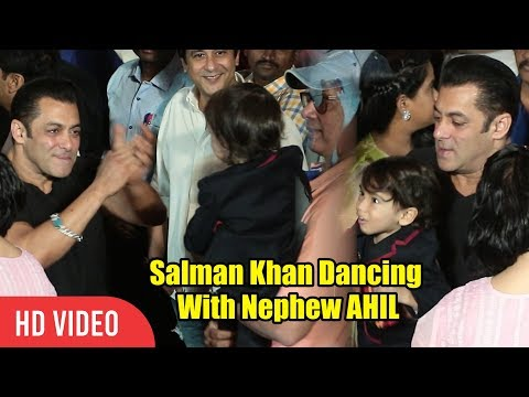 RARE VIDEO Of Salman Khan Dancing With Nephew AHIL | Loveratri Trailer Launch
