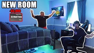 I Spent $5,000 On My NEW Room With My DADS CREDIT CARD!
