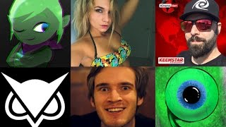 PewDiePie, LeafyIsHere, DramaAlert, ZoieBurgher, JackSepticeye2, PopularMMOs Live Sub Count!