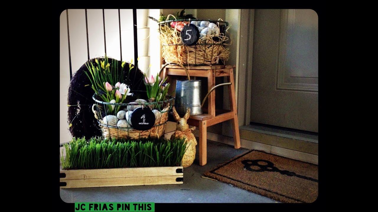 My Outdoor Spring Easter Decor Tour Idea DIY - YouTube