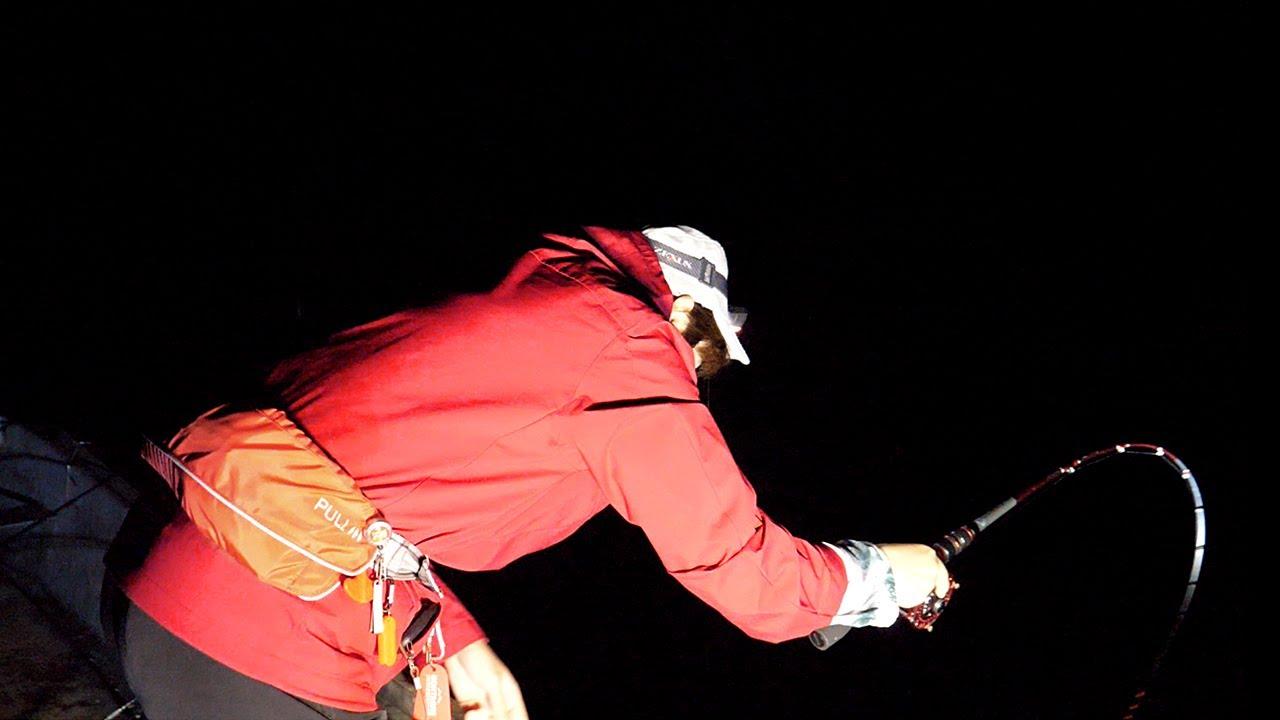 夜釣りでアナゴを狙いに行ったら、ちがう展開に・・・。