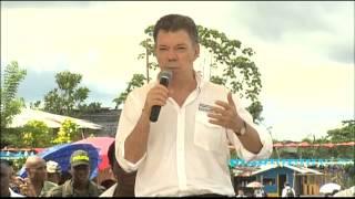 Palabras del Presidente Santos durante su visita al Parque Educativo de Vigía del Fuerte, Antioquia