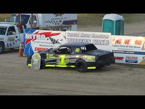 Street Stock Heat Race #1 at Crystal Motor Speedway, Michigan on 07-02-16.