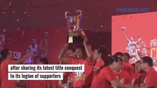 Funk Circuit™ Mettalic Red Confetti for Ginebra's 2019 PBA Governor's Cup Championship Celebration