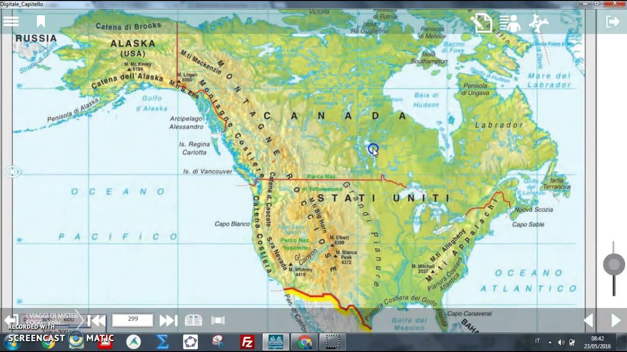 America Settentrionale Cartina Geografica Politica.L America Del Nord Youtube