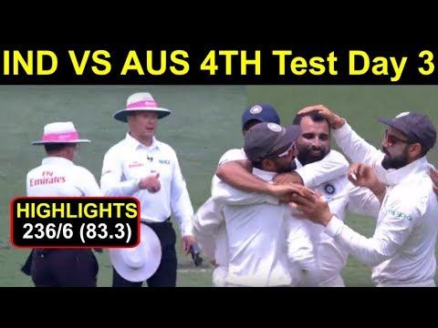 Ind Vs Aus 4th Test Day 3rd Highlights: Australia Score 236/6, Watch It | Headlines Sports