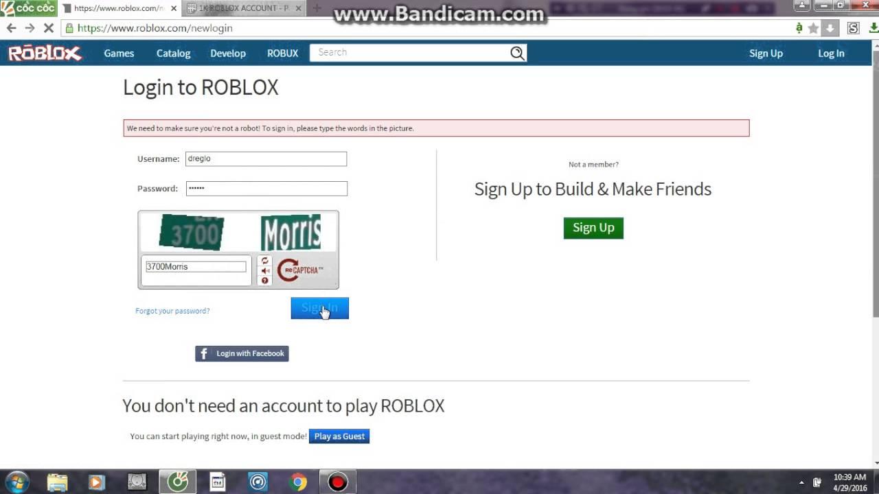 Roblox Account Dump 2018