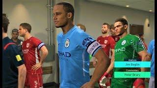 Manchester City vs Bristol City 2018 | Full Match Highlights | PES 2018 Gameplay HD