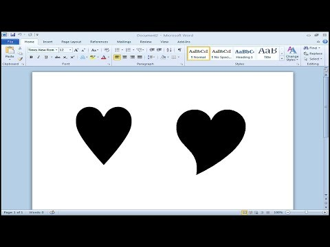 How to type heart symbol in Microsoft Word