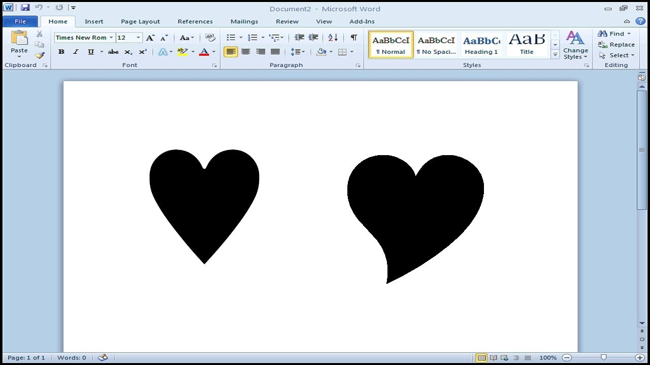 How To Type Heart Symbol In Microsoft Word Youtube