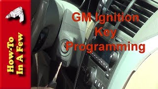 How To: Program Your GM Ignition Keys on Traverse, Acadia, Enclave