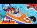 """Carrera de """"Mascotas y Pistones"""" en Mickey y los Superpilotos"""