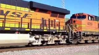 BNSF Mixed Intermodal and Trailer on Flat Car Train, Christie, CA