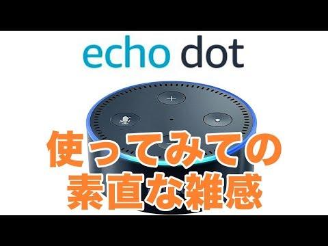 【Amazon Echo Dot】とりとめのない感想いろいろ   スキルとか認識精度とか