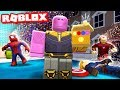 Wiping out HALF the server with INFINITY SNAP in Superhero Simulator (Roblox)