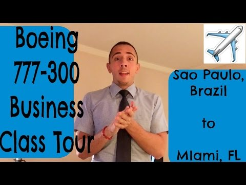 777-300 BUSINESS CLASS TOUR | SAO PAULO to MIAMI | FLIGHT ATTENDANT LIFE