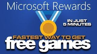 How to get FREE games or Xbox Live Gold for Free in 5 minutes a day | Microsoft Rewards