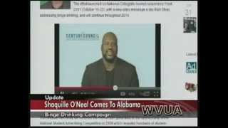 WVUA news coverage of Shaq's visit with LessThanUThink