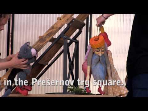 Open air events in Ljubljana: Puppet performance for children in the Prešernov trg square