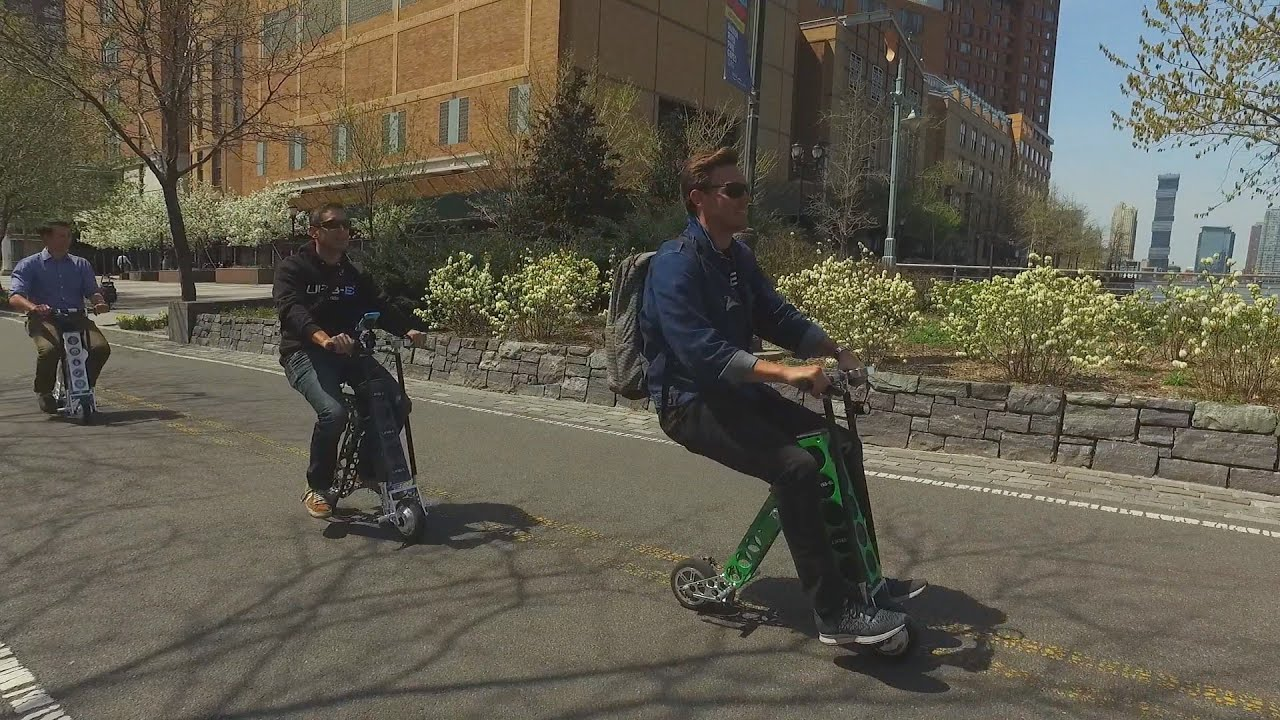 urb e in nyc foldable electric scooter made in usa youtube