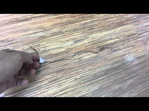 Tarkett floor  full of termite installed by Evorich Holding Pte Ltd -2010 to 2013