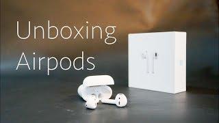 Mở hộp nhanh tai nghe không dây Apple Airpods