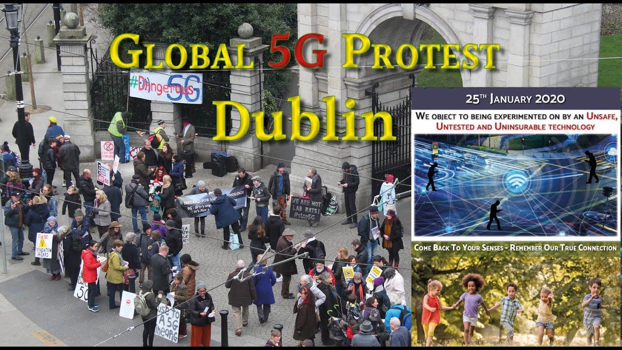 Global 5G Protest – Dublin, Jan 2020