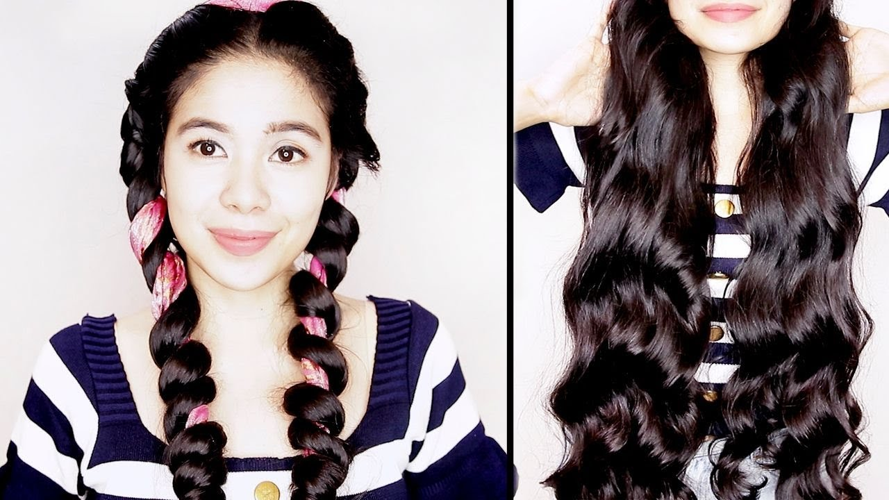 Image result for hair curl wrap overnight heatless