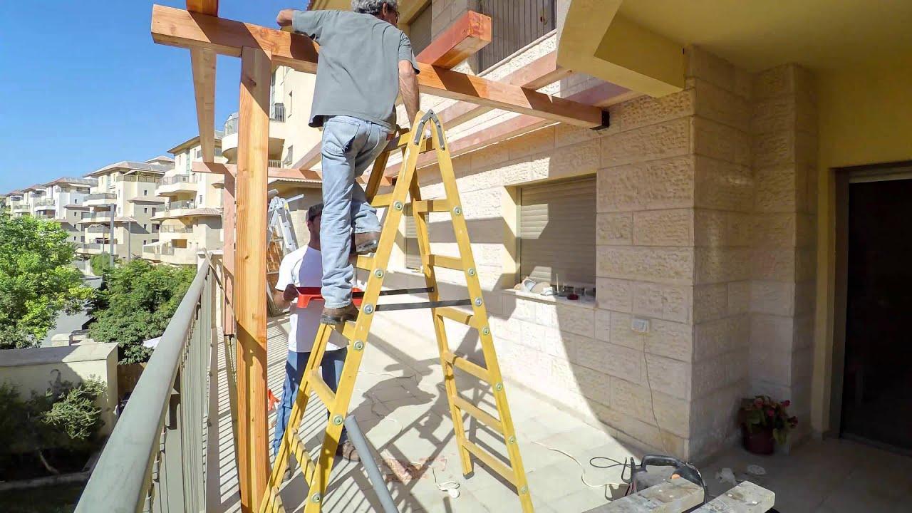 בניית פרגולה במרפסת