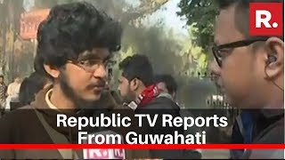 Republic TV Reports From Guwahati As Protest Continue Across Northeast India Against CAB