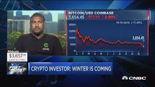Long, dark winter ahead for crypto, says bitcoin oracle Vinny Lingham
