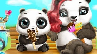Help Mommy Panda Feed, Bathing & Dress Up Baby Panda LU - Fun Pet Care Games