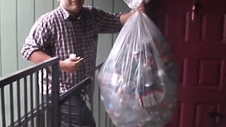 Recycling aluminum cans and plastic bottles for money part 2