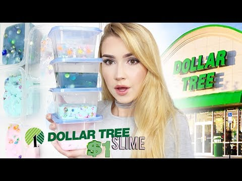 DOLLAR TREE SLIME CHALLENGE!!