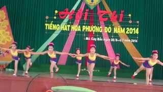 Nhảy aerobic bài Bông Hồng Tặng Cô - Nhuận Phú Tân - Hội thi tiếng hát Hoa Phượng Đỏ Mỏ Cày Bắc