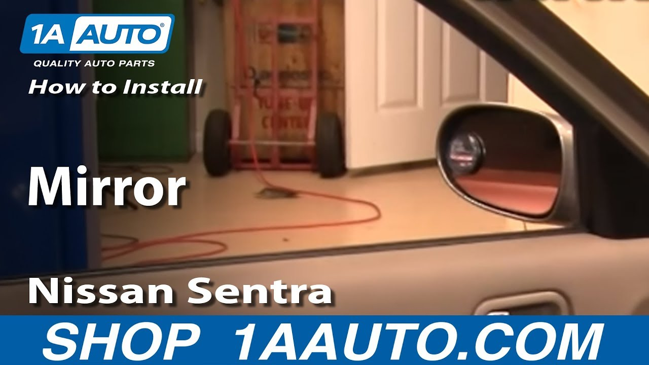 How To Install Replace Side Rear View Mirror Nissan Sentra ...