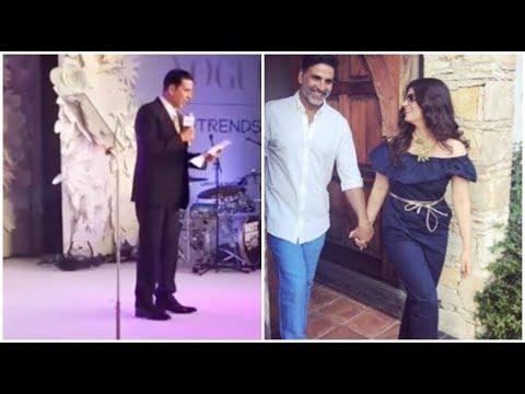 Akshay Kumar Funniest Speech for Twinkle Khanna