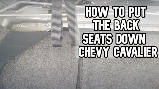 How to put the back seats down in a Chevy Cavalier DIY video #diy #cavalier