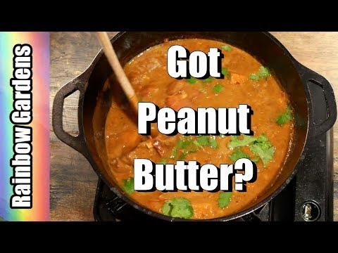 West African Peanut Stew Recipe with Sweet Potatoes and Peppers