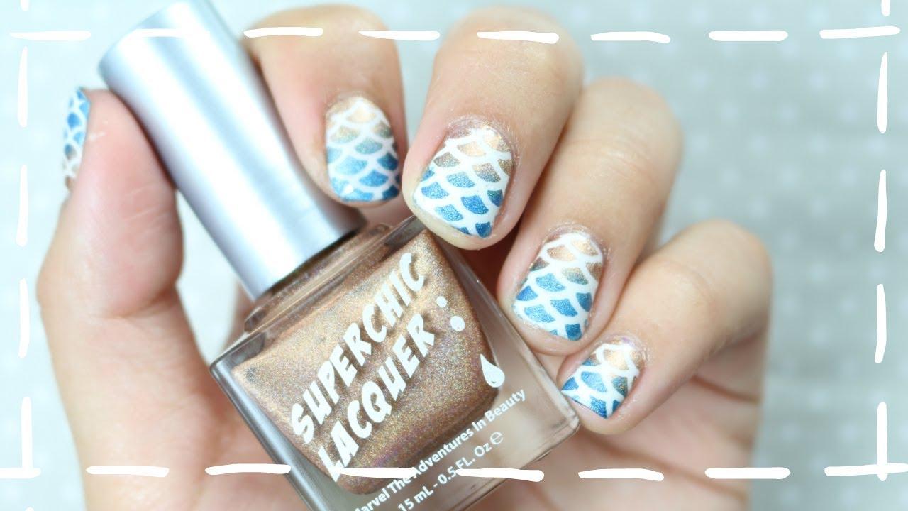 MANICURA DE SIRENA | Crea tus propias pegatinas para uñas | Alicé ...