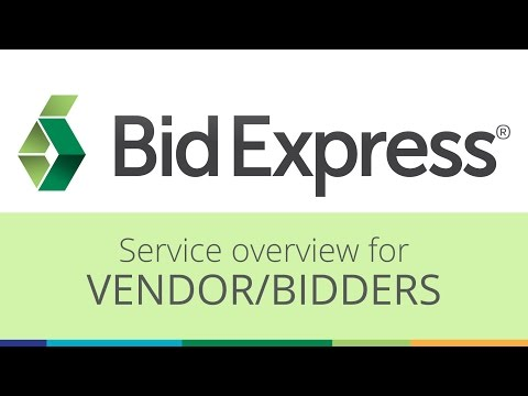 Easily submit bids online with the Bid Express service