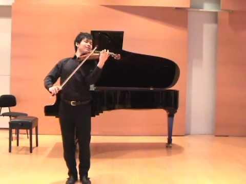 Daichi Nakamura Bach  Solo Sonata No.1 Fuga
