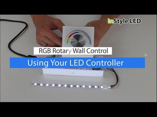 How to set up & use a Rotary LED Wall Control - LED strip lights