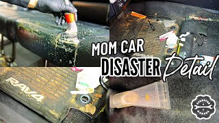 DEEP CLEANING A Really DIRTY Mom Car! Complete Disaster Full Interior Car Detailing Transformation!