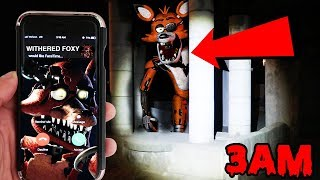 CALLING WITHERED FOXY ON FACETIME AT 3AM AT A HAUNTED CHILDREN PARK | WITHERED FOXY APPEARS!!