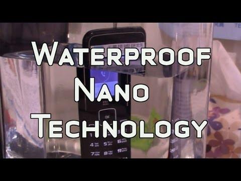ITRI Waterproof Nanocoating Smartphone Demo - Taiwan Nano Exhibition