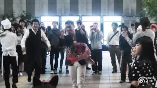 フラッシュモブ サプライズ プロポーズ one direction live while we re young jr大阪駅 カリヨン広場 flash mob surprise